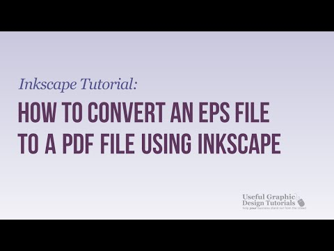 How to Convert an .EPS file to a .PDF file to Use in Inkscape
