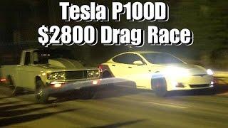 TESLA P100D $2800 CASH DAYS DRAG RACE!