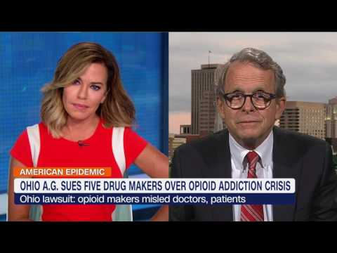 Ohio sues 5 drug makers over opioid addiction crisis