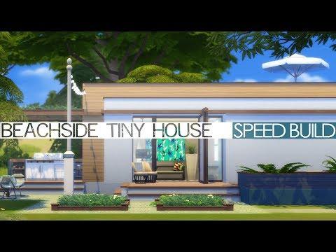 The Sims 4 Speed Build - BEACHSIDE TINY HOUSE