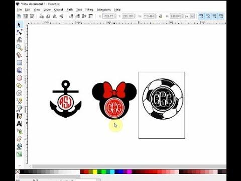 Make monogram SVG files in Inkscape
