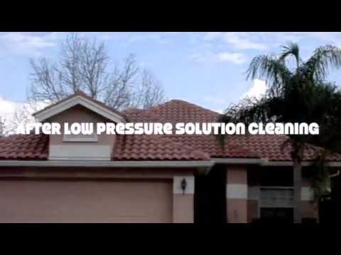East Lake woodlands  Oldsmar FL  Barrel tile roof cleaning