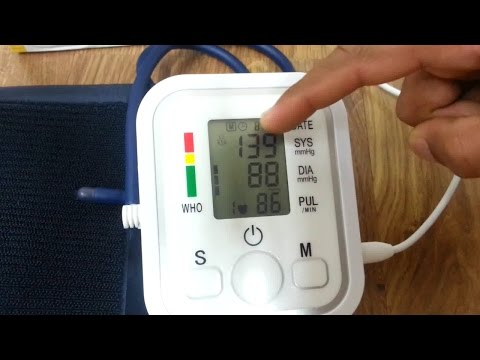 how to set and use digital blood pressure machine