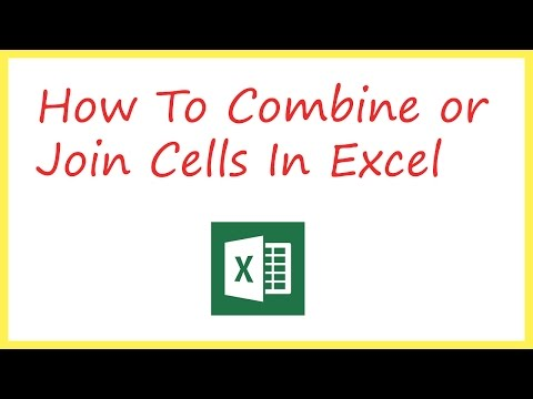 How to combine two cells into once in excel
