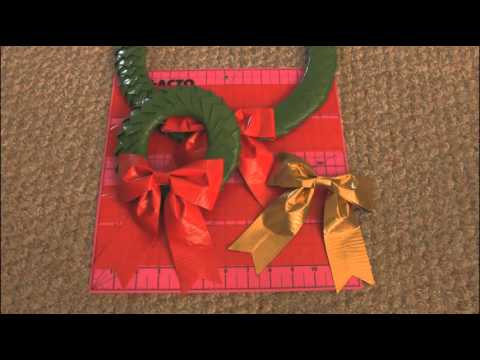 DIY DUCT TAPE WREATH & BOW - Holiday How To | SoCraftastic