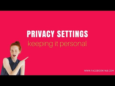 How to keep your personal profile private from your business page