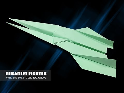 Best Paper Planes: How to make a cool paper airplane for Kids | Guantlet Fighter