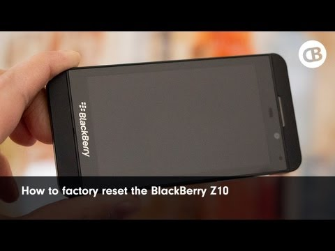 How to factory reset (wipe) the BlackBerry Z10