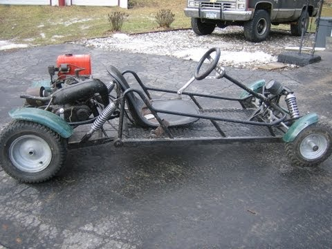 Custom made Gocart 175 with 2 stroke yamaha dirtbike engine
