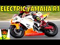 210kW Racing Electric Yamaha R1 vs Petrol Bikes (race track) • Ripperton DIY Electric Motorcycle