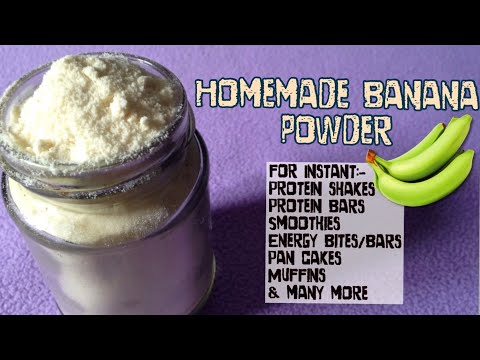 Banana Powder Recipe | How to make Banana Powder for Instant shakes, smoothie, pancakes| Healthy