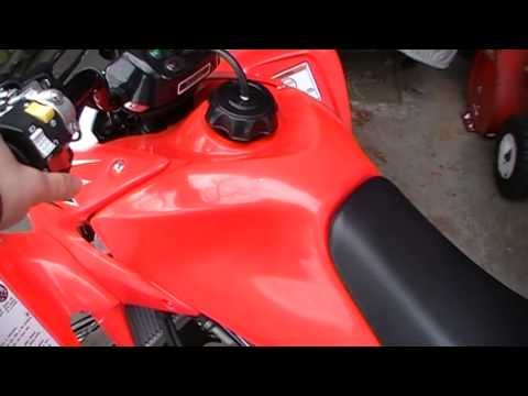 How To Start a Honda TRX450R ATV with Electric Starter