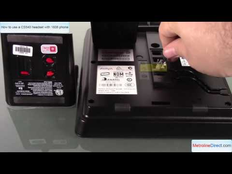 How to use Plantronics CS540 Headset with an Avaya 1608 Phone