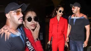 Malaika Arora Arjun Kapoor Leave For New York To Celebrate Arjun