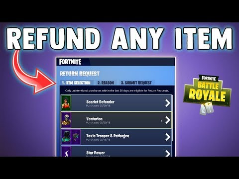 HOW TO REFUND ITEMS IN FORTNITE (PS4, PC, XBOX ONE) How to Use Refund System Fortnite Battle Royale