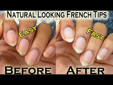 DIY: Natural Looking French Manicure! (Make your yellow nails appear brighter!)