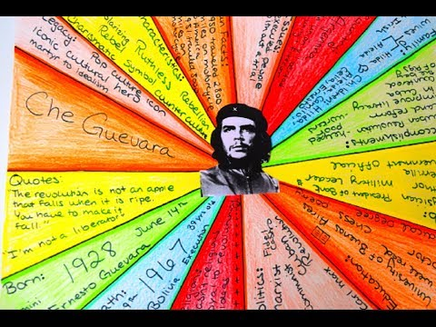 {DIY} Biography Poster 💣Che Guevara 🚲#EpicHistoryProjects