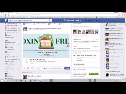 How to create a Facebook event or live FB class