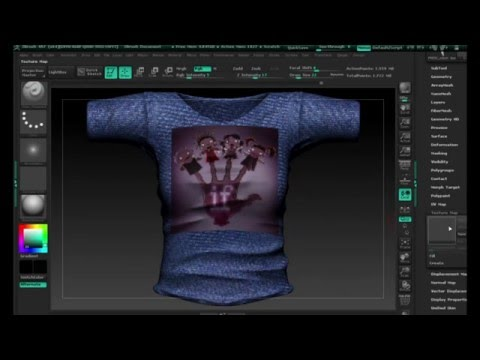 MSI Shirt From Mesh Extraction in Zbrush for Second Life.