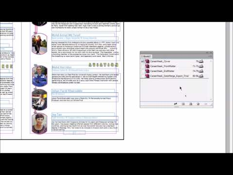 Using InDesign Books to Combine Files