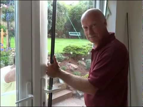 How to remove a window and fit french doors.