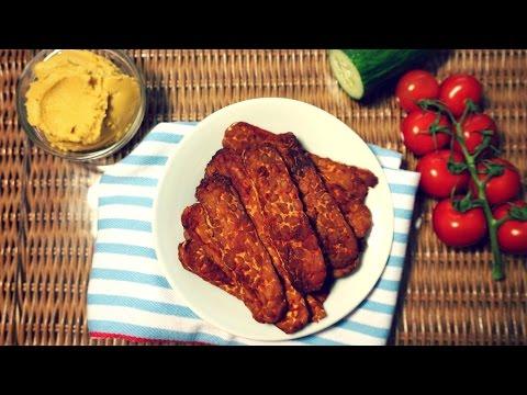 EASY Baked Tempeh Bacon Recipe (Vegan, Oil-Free)