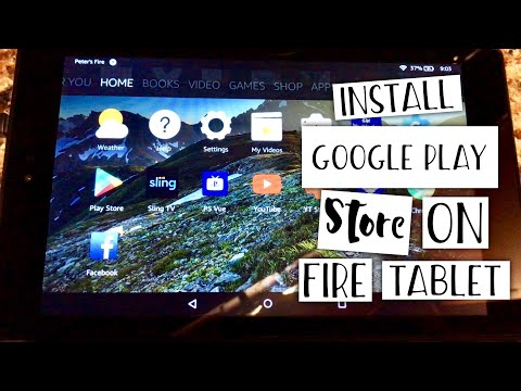 How to install the Google Play Store on the Amazon Fire HD 8 Tablet
