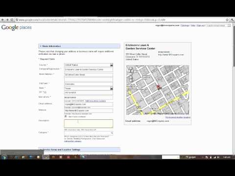 Google Places How to Claim, create, edit your google local listing