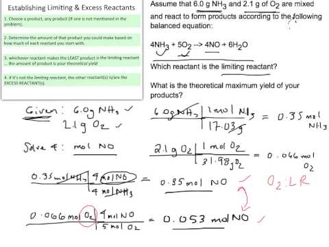 Stoichiometry:  Limiting Reactant and Percent Yield