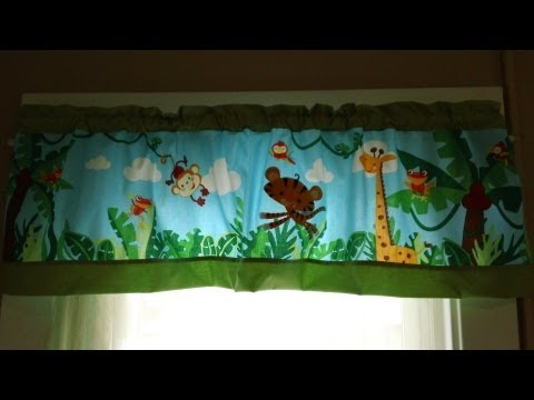 Crib Bumper into Valance: Step by Step Tutorial