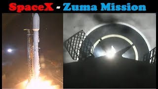 SpaceX Zuma Mission - Falcon 9 Launch & First Stage Landing