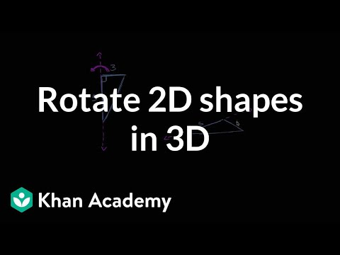 Rotating 2D shapes in 3D | Perimeter, area, and volume | Geometry | Khan Academy