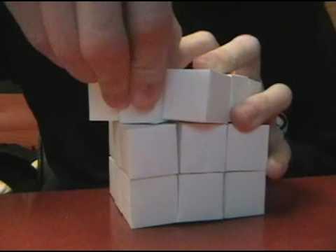 Paper Mechanics: 3 x 3 x 3 Rubik's Cube