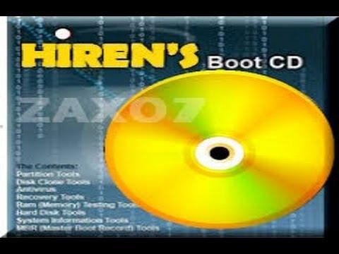 شرح تشغيل برامج أسطوانة الهيرن hiren's boot لصيانة و إصلاح مشاكل الحاسوب دون الإقلاع إليها