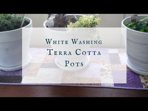 How to White Wash Terra Cotta Pots