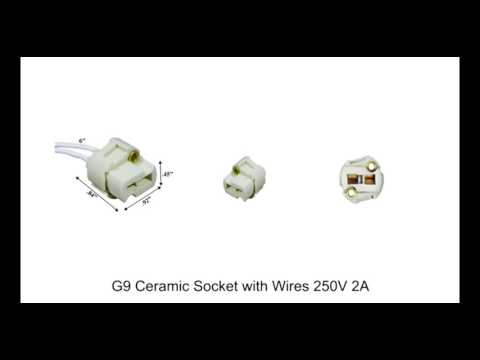 78944  G9 Ceramic Socket with Wires