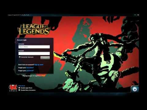 League of Legends Zombie Slayer Login Screen - Harrowing(?) 2015 Login Music