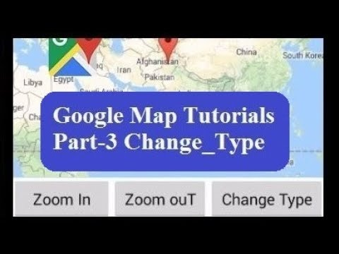 Change Google Map Type in android studio with a button | Changing Map modes