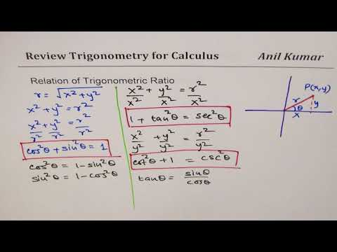 Basic Trigonometry Essential You Need to know for Calculus