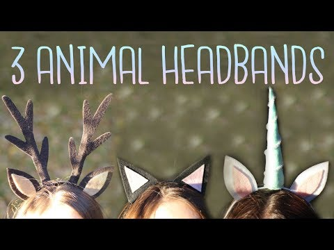 How To Make Animal Ear Headbands - Cat, Unicorn & Deer | Last Minute Costumes | BOOtorial
