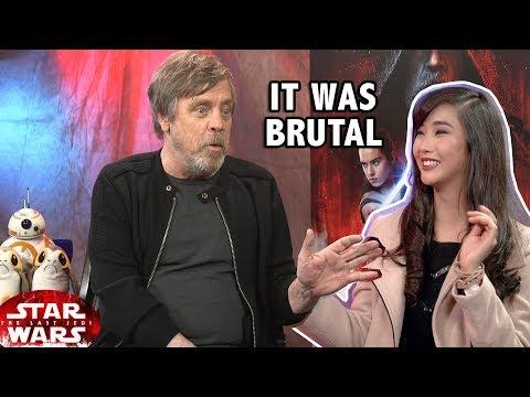 STAR WARS Luke challenges in filming The Last Jedi (Mark Hamill Interview)