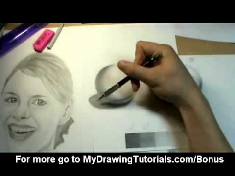 [Realistic Drawing Tutorial 2/8] Pencil Shading Techniques & How To Shade A Portrait