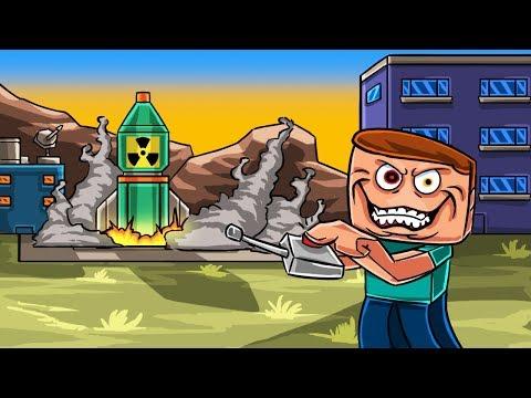 Minecraft   NUCLEAR BUNKER CHALLENGE! (Base vs Nuke)