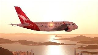 FSX HD] - Boeing 707 landing at Hong Kong Airport (Kai Tak)