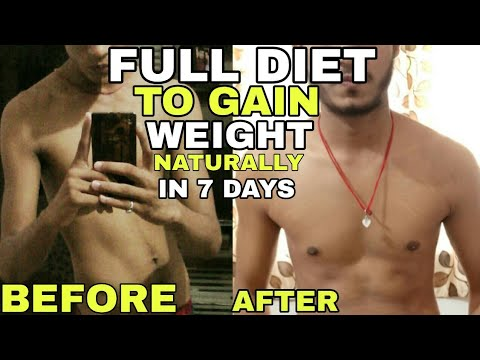 How to gain weight naturally no gym | Complete diet to increase weight | How to gain weight in 7 day