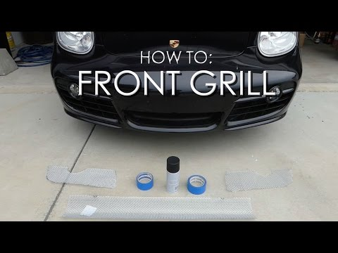 Porsche Cayman Mods: DIY Front Mesh Grill |Protect your Car!|