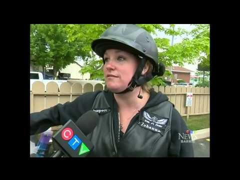 CTV Barrie: Iron Sirens Womens Motorcycle Riding Club ride through Creemore, ON