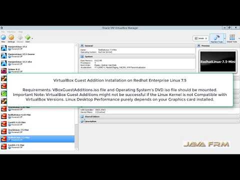 VirtualBox Guest Addition Installation on Redhat Enterprise Linux 7.5   VirtualBox 5.2