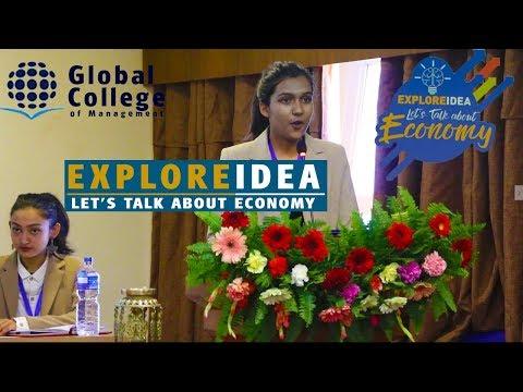 EXPLORE IDEA | Let's talk about Economic | Global College of Management | Colleges Nepal