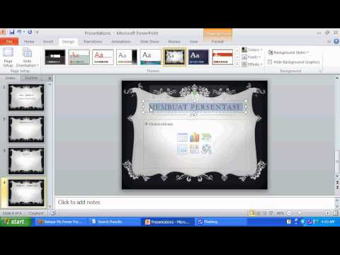 learn ms power point 2010 - make the background style
